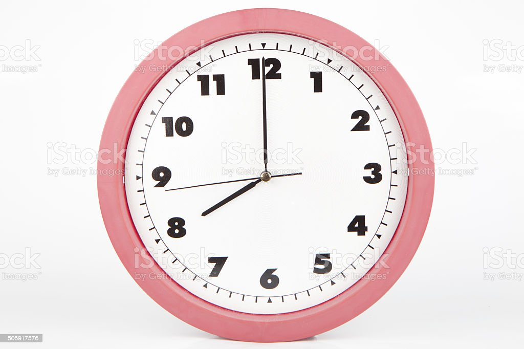 eigth o'clock stock photo
