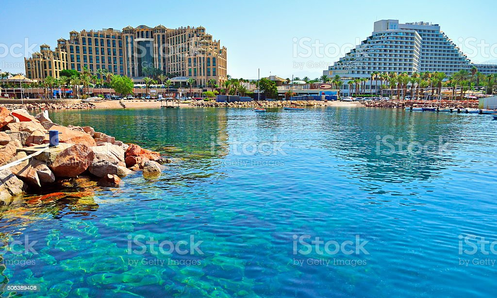 Eilat - a resort town stock photo