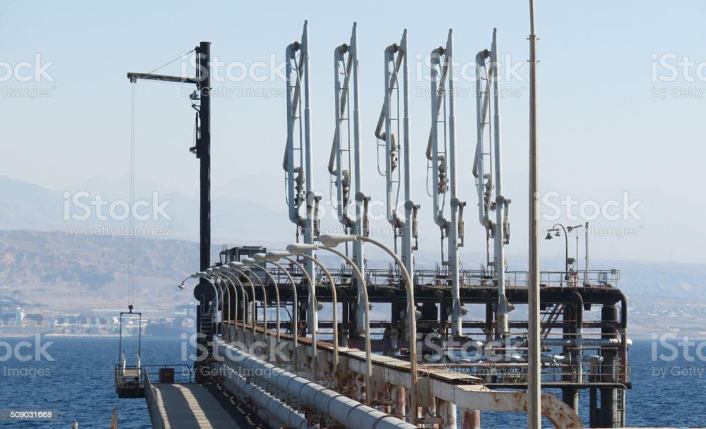 Eilat Port, Israel stock photo