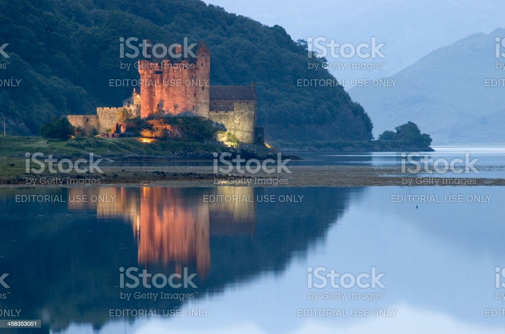 Eilean Donan at dusk royalty-free stock photo