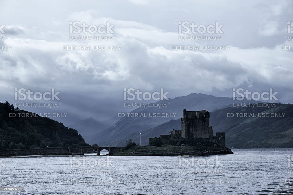 Eilean Donan Castle And The Scottish Weather stock photo