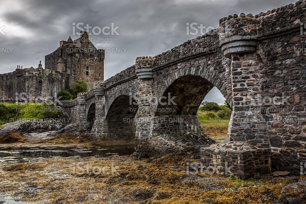 Eilean Donan Castle at dusk, Scotland, Uk stock photo