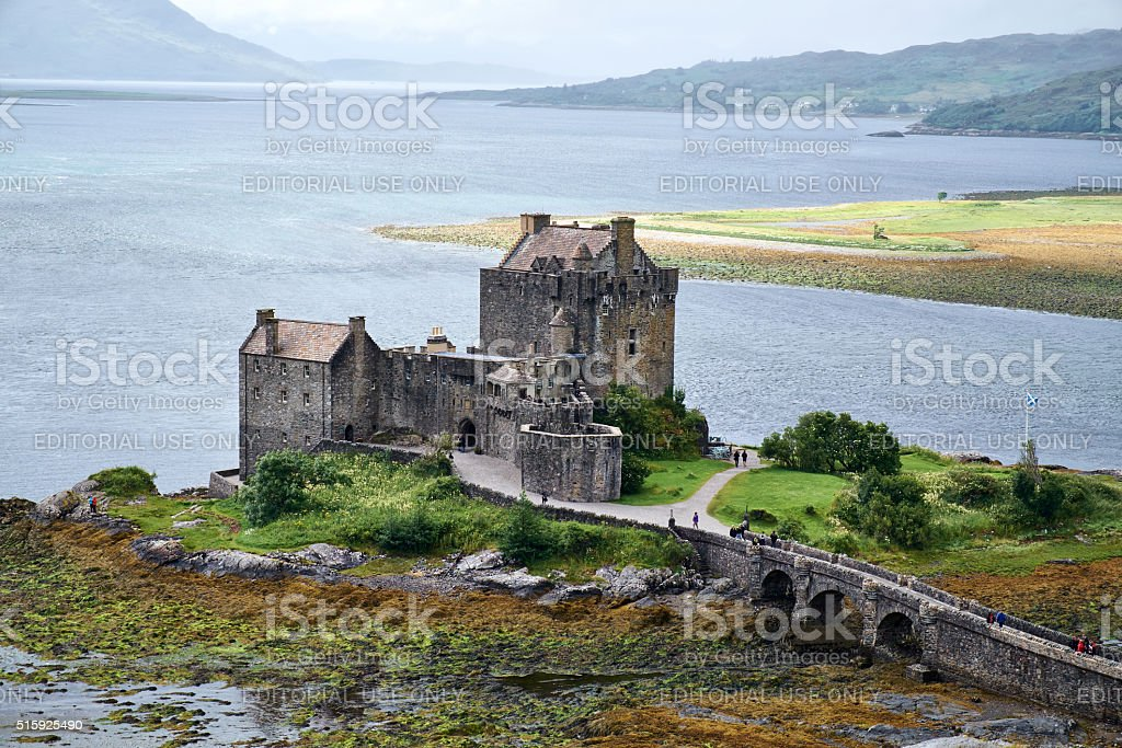 Eilean Donan Castle Elevated View stock photo