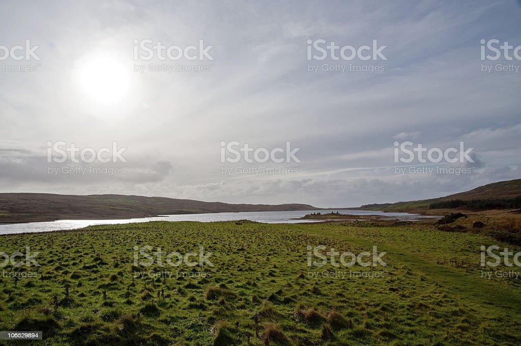 Eilean Mor Loch Finlaggan stock photo