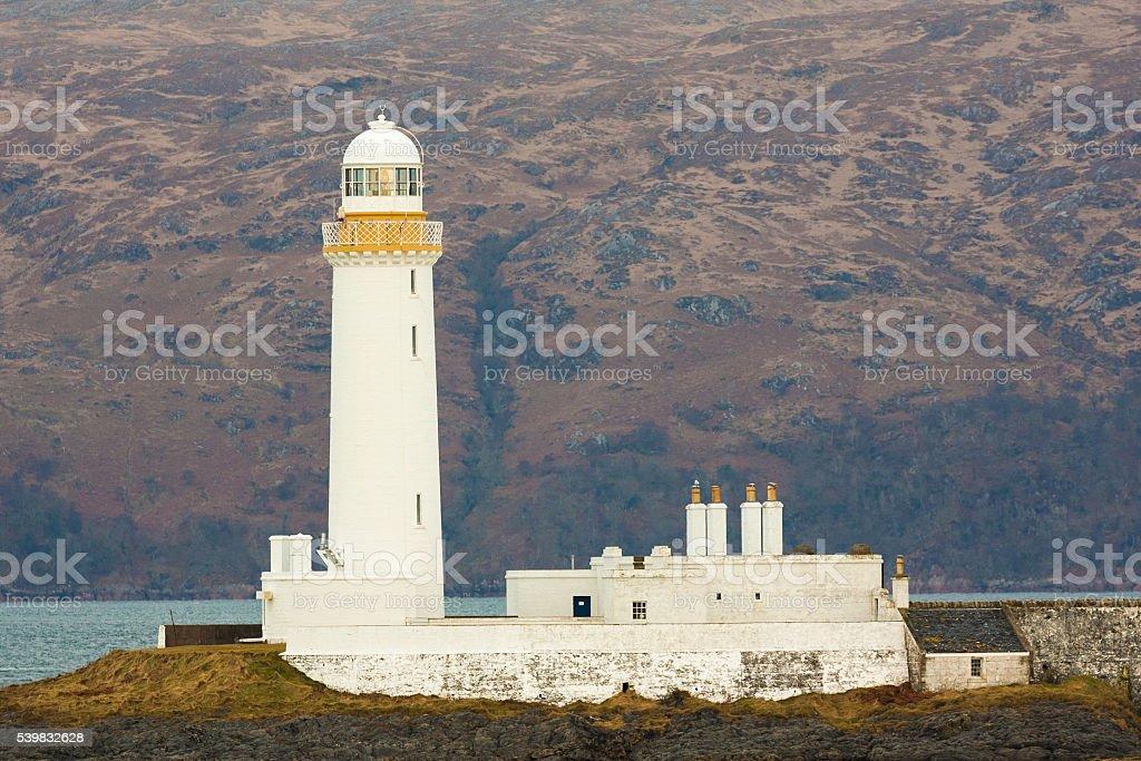 eilean musdile lighthouse near oban stock photo