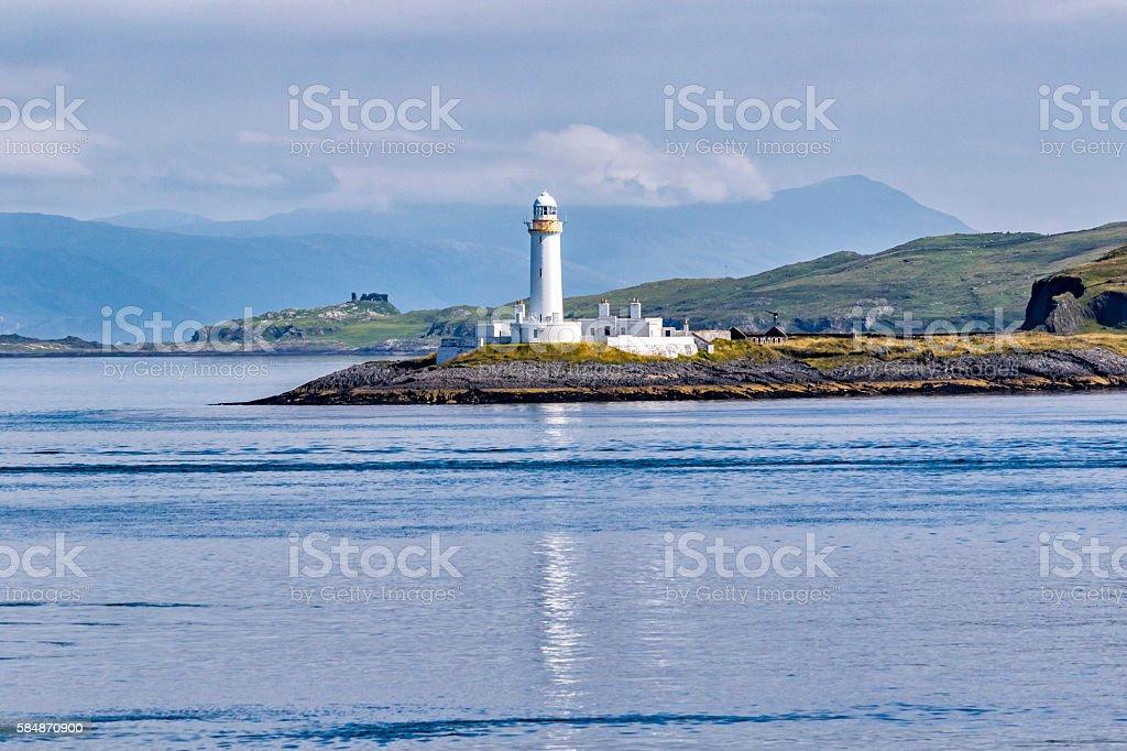 Eilean Musdile Lighthouse stock photo