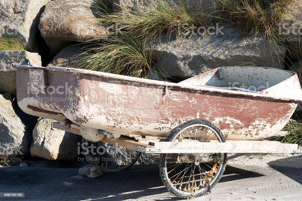 Ein altes Boot stock photo