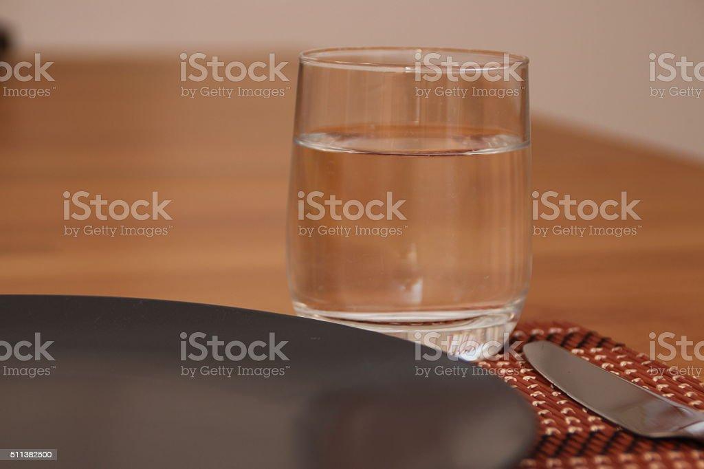 Ein gedeckter Tisch stock photo