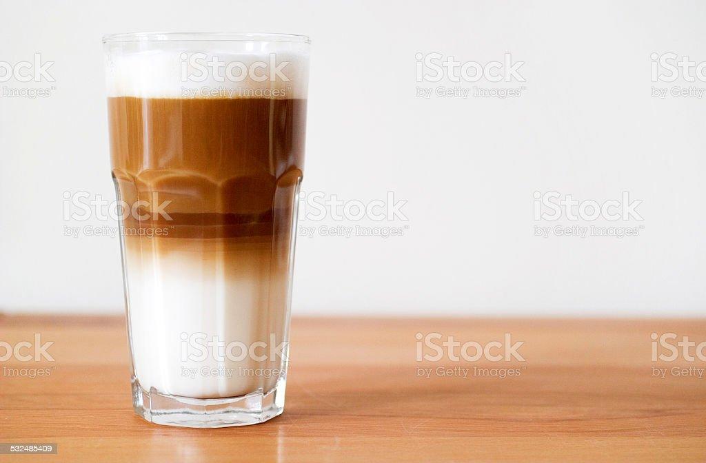 ein Glas Latte Macchiatto stock photo