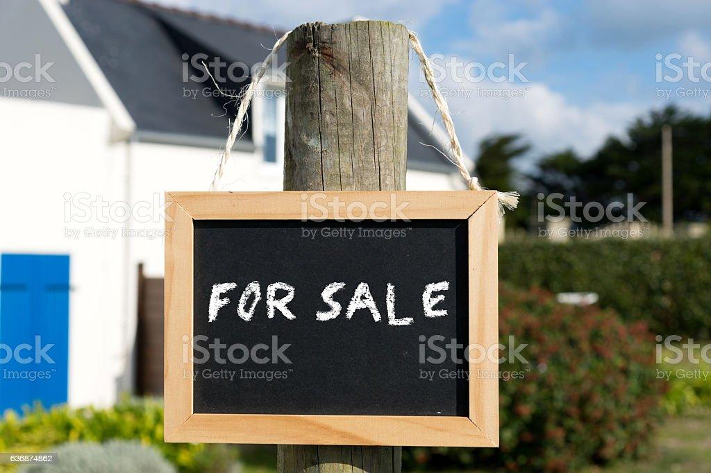 Ein Haus zum Verkaufen stock photo