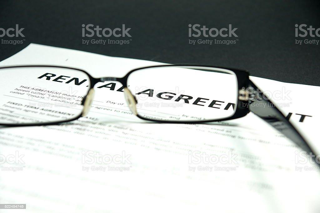 Ein Mietvertrag stock photo