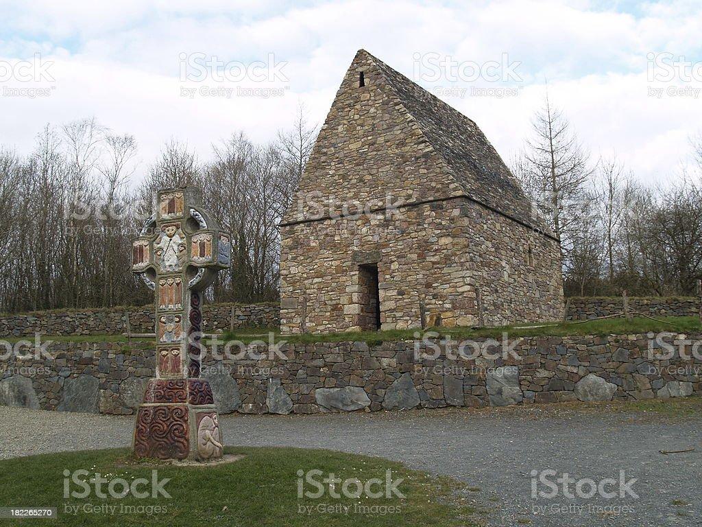 ein Steinhaus in Irland stock photo