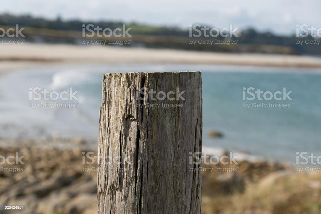 Ein Strand in Frankreich stock photo
