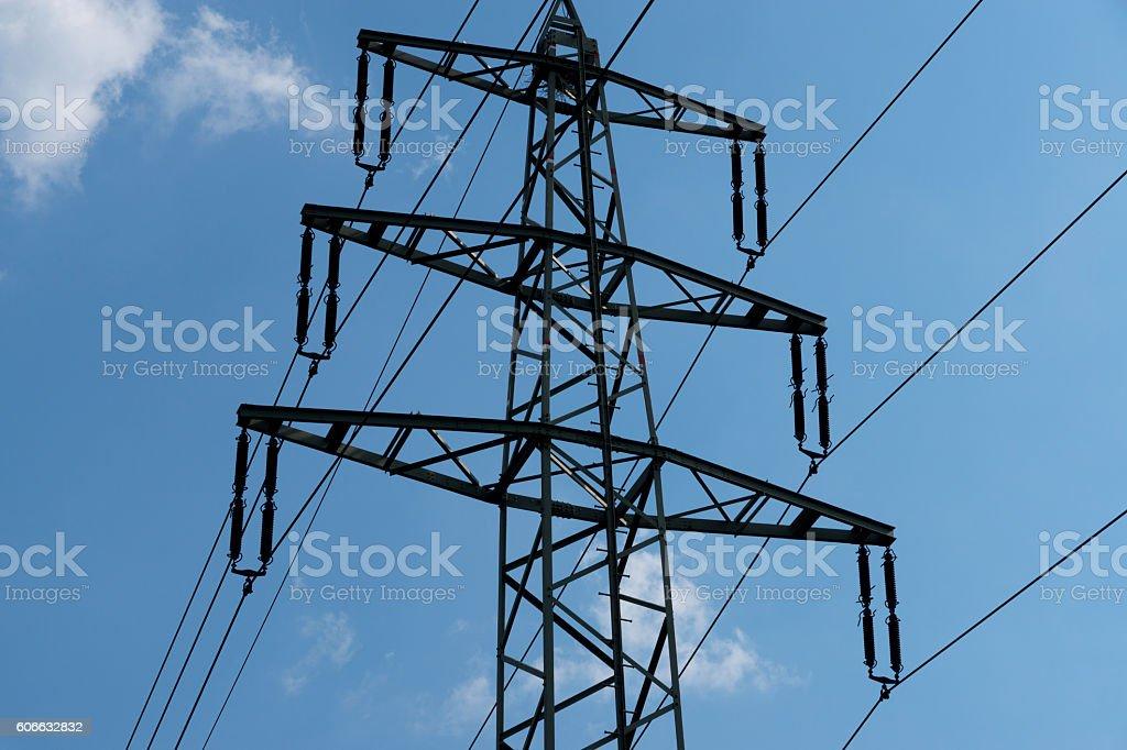 Ein Strommast stock photo