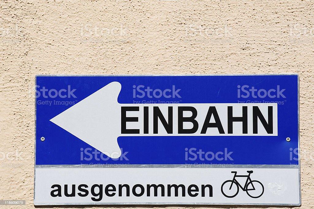 Einbahn royalty-free stock photo