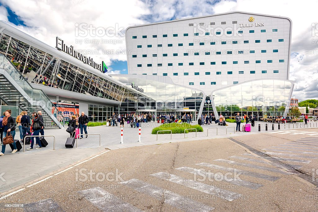 Eindhoven airport stock photo