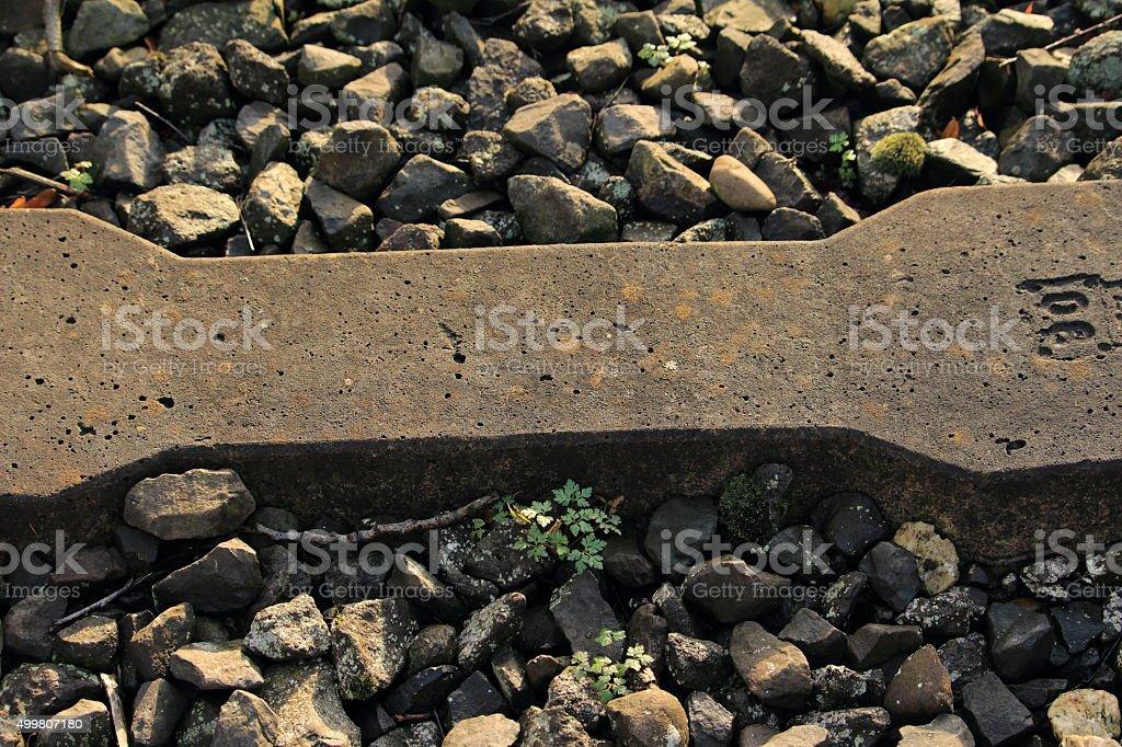 Eine Bahnschwelle stock photo