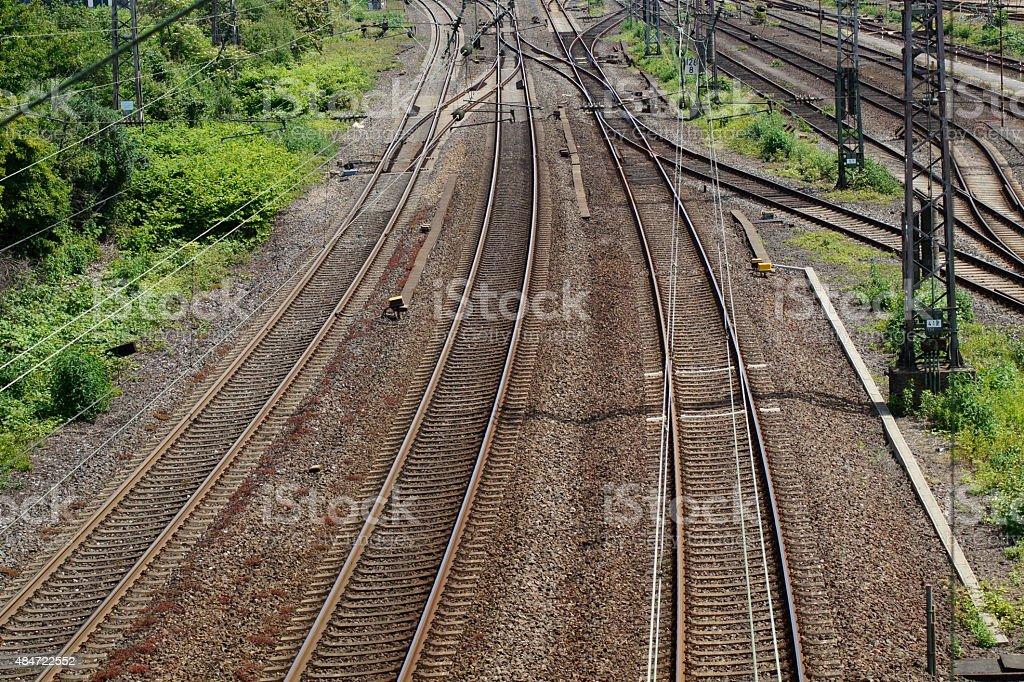 Eine Bahnstrecke stock photo