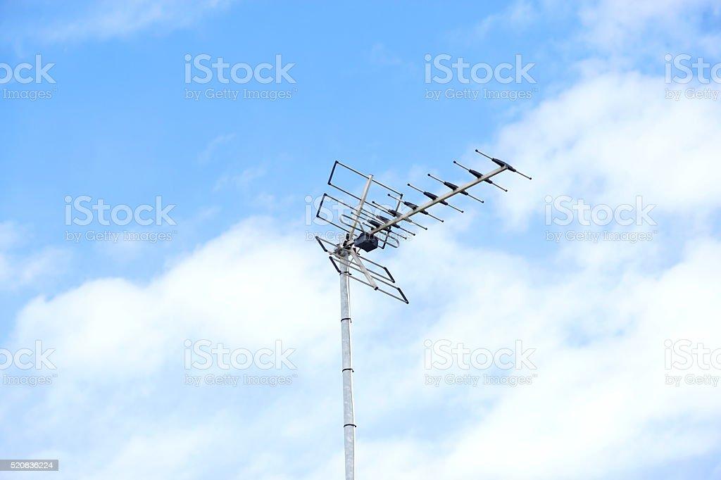 Eine Fernsehantenne stock photo