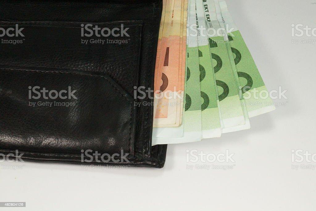 Eine Geldb?rse stock photo