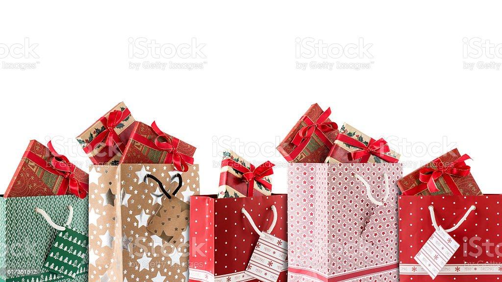 Einkaufstaschen mit Geschenke stock photo