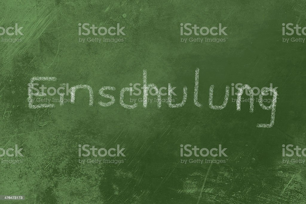 Einschulung chalk on Blackboard royalty-free stock photo