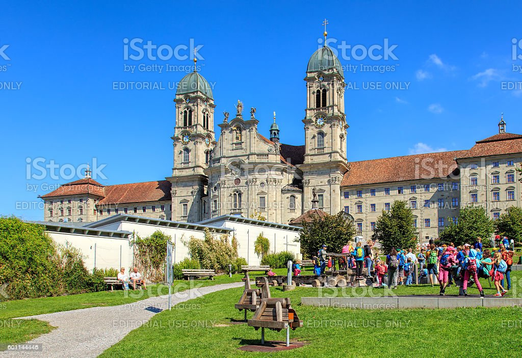 Einsiedeln Abbey in Switzerland stock photo