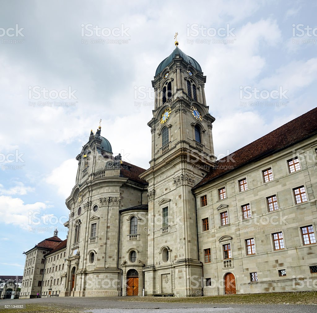 Einsiedeln Abbey, Switzerland stock photo