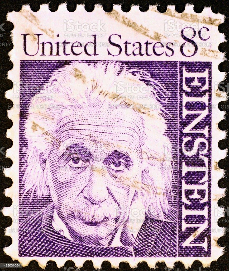 Einstein on United States Postage Stamp stock photo