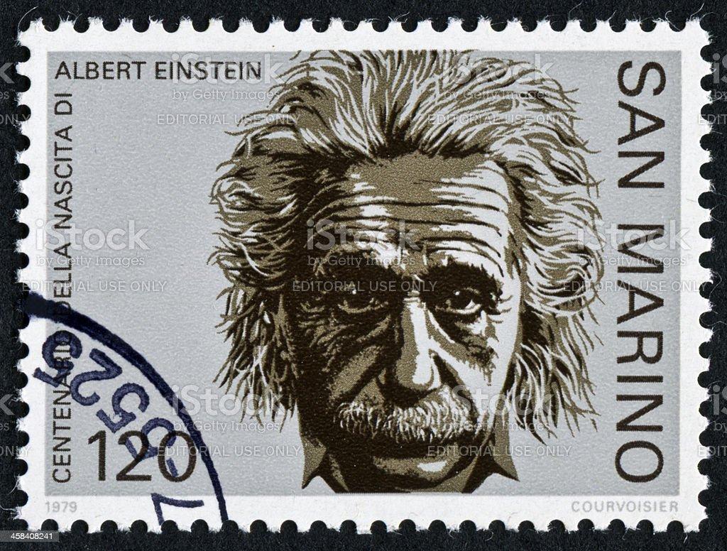 Einstein Stamp stock photo