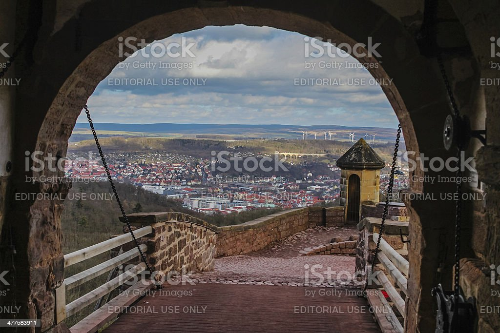 Eisenach and countryside from Wartburg castle royalty-free stock photo