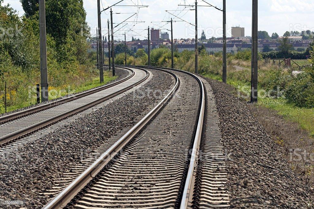Eisenbahnschienen, Eisenbahnlinie stock photo