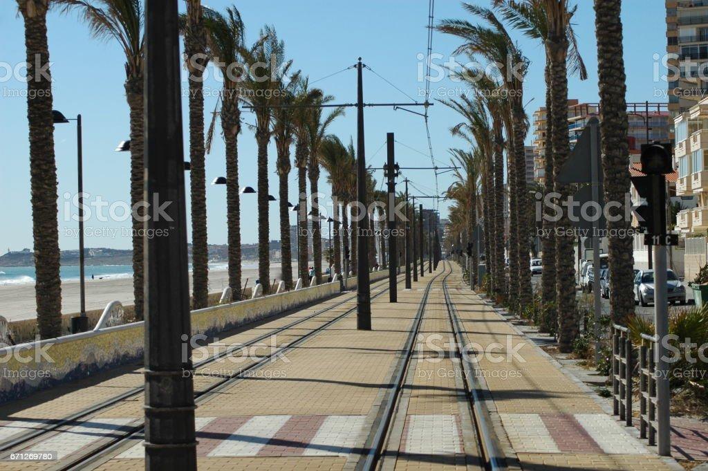 Eisenbahnschienen in - Spanien stock photo