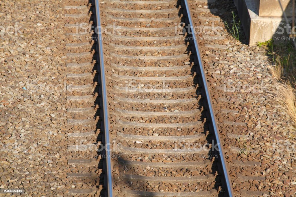 Eisenbahnschienen stock photo