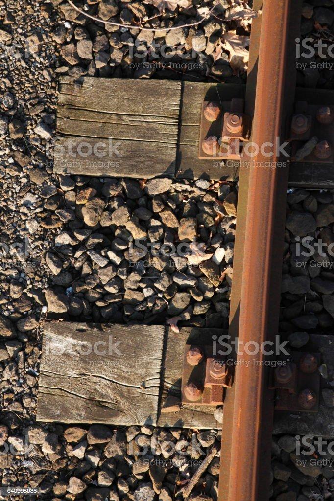 Eisenbahnschwellen stock photo