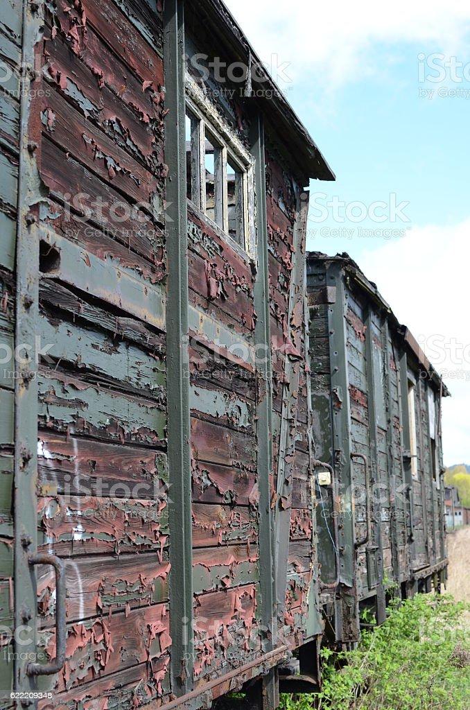 Eisenbahnwaggon stock photo