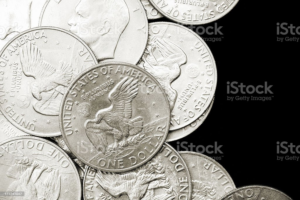 U.S. Eisenhower Dollars stock photo