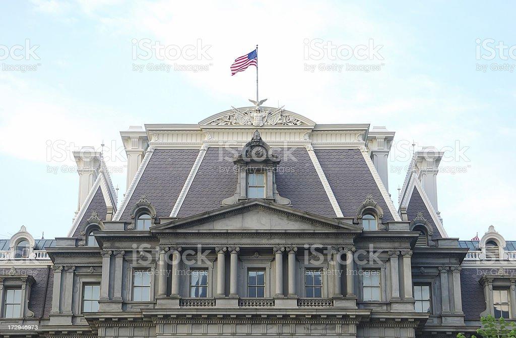Eisenhower Executive Office Building, DC stock photo
