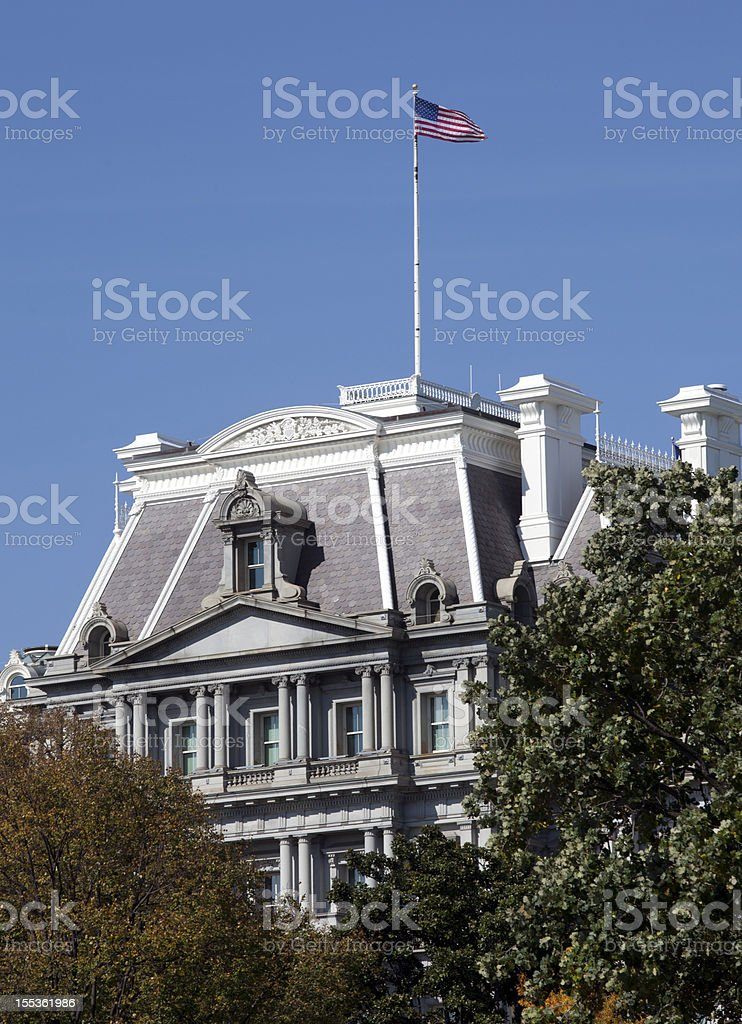 Eisenhower Executive Office Building in Washington DC stock photo