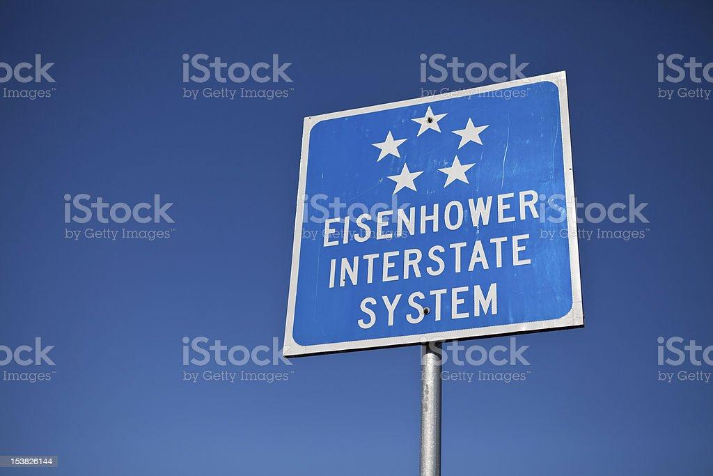 Eisenhower Interstate System stock photo