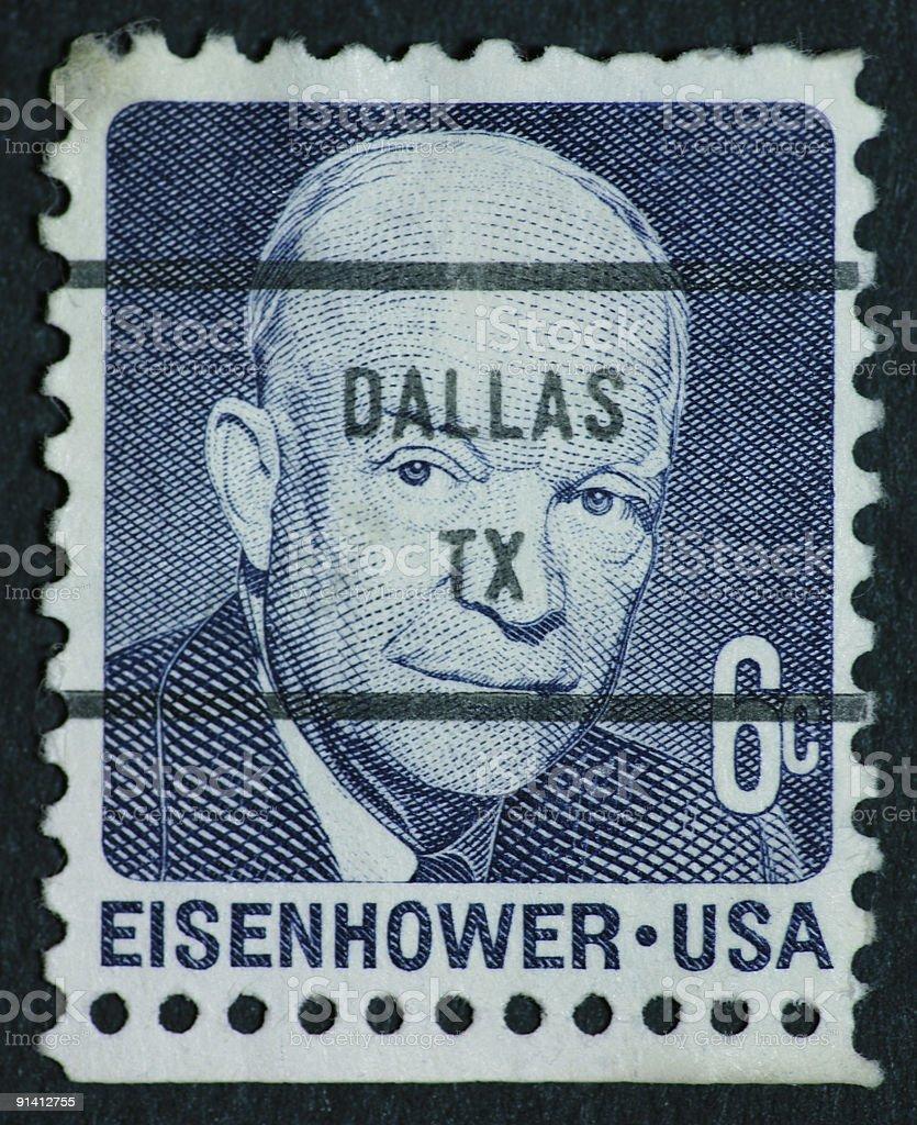 Eisenhower stamp stock photo
