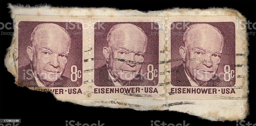 Eisenhower stamps stock photo