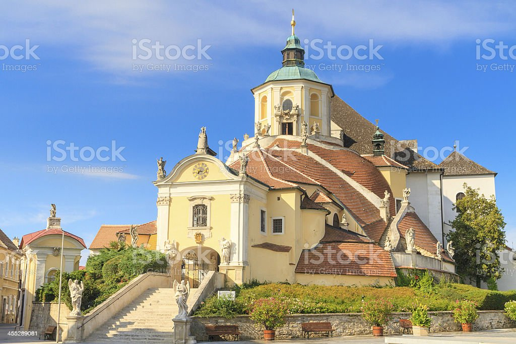 Eisenstadt Mountain / Haydn Church on Kalvarienberg, Burgenland stock photo