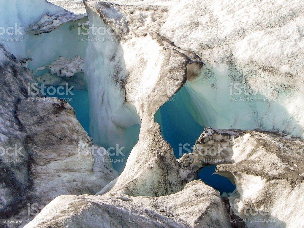 Eisformation auf dem Inlandeis in Grönland stock photo