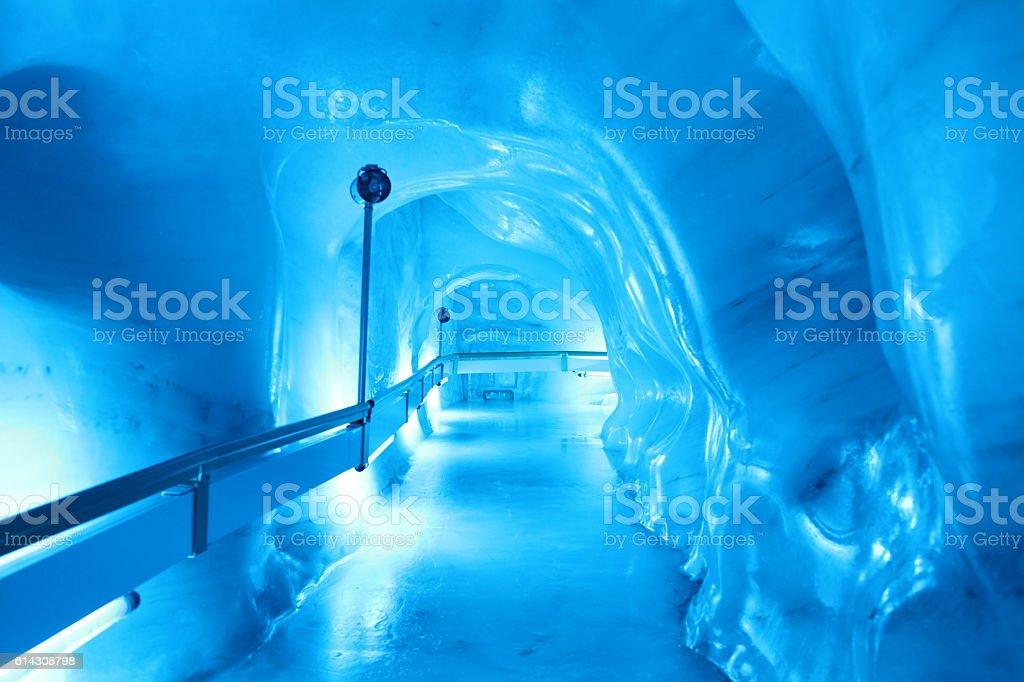 Eistunnel Titlis Schweiz stock photo