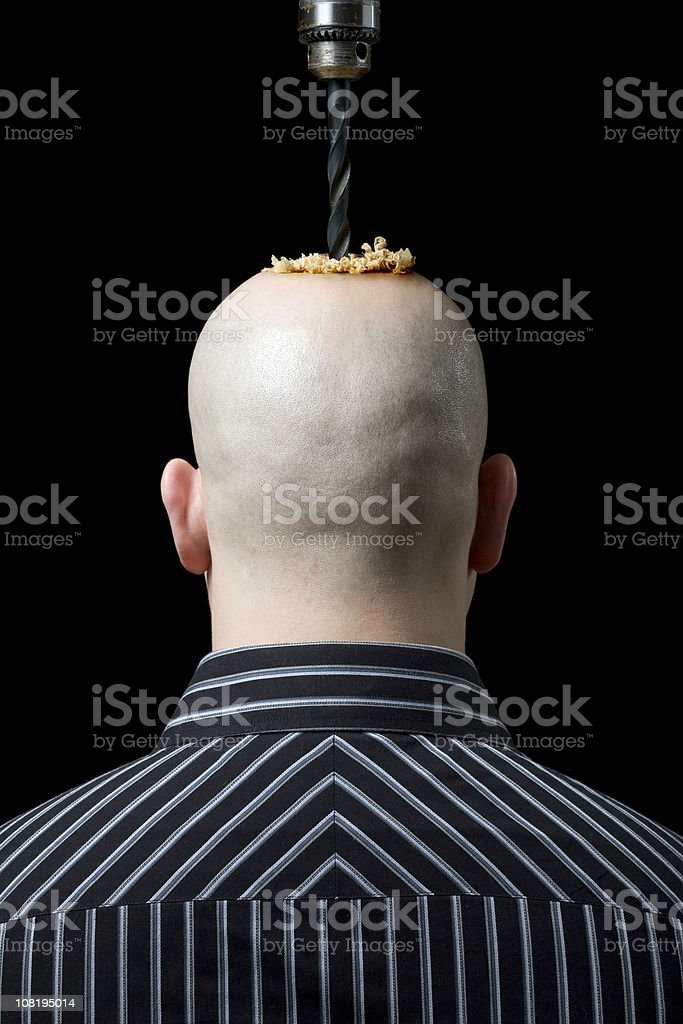 Either a Bad Headache or I Got Screwed royalty-free stock photo