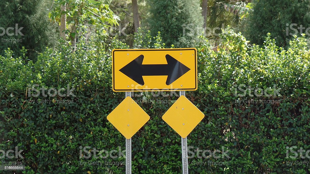 Either Way Sign stock photo