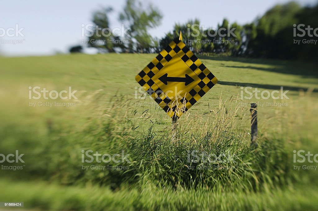either way sign royalty-free stock photo