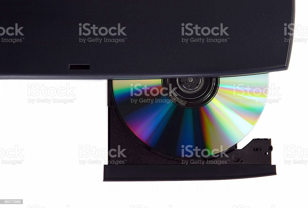 CD Ejected stock photo