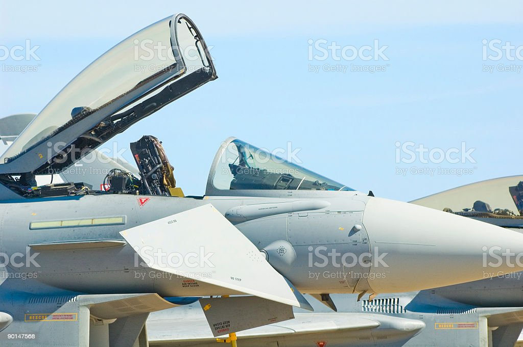 Ejector seat and canopy royalty-free stock photo